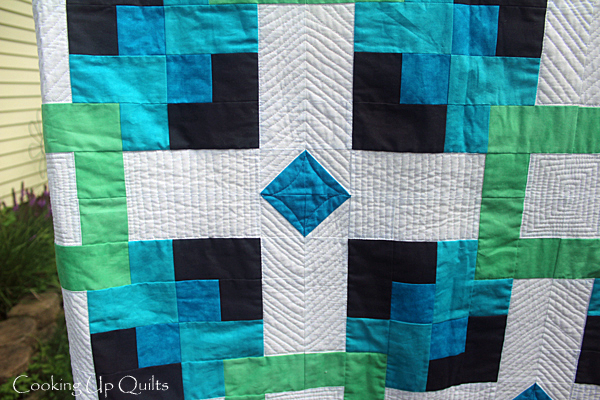 Floating Pattern Quilting Detail