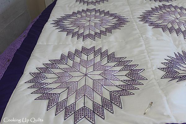 Purple quilt blocks