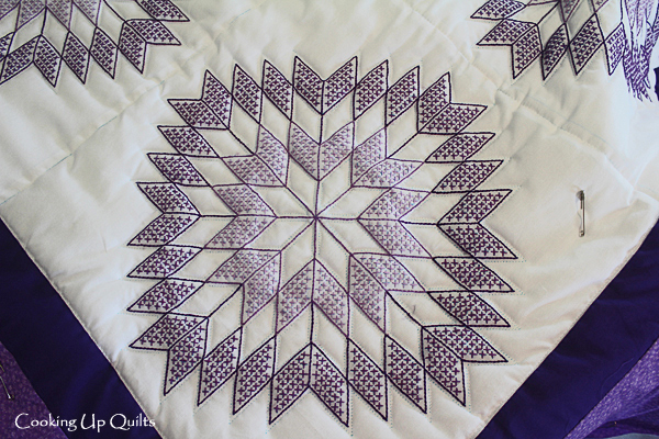 Cross Stitched Quilt Block