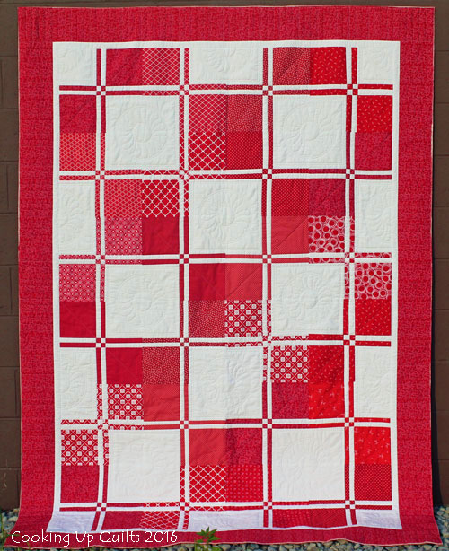 Red & White Disappearing Four Patch