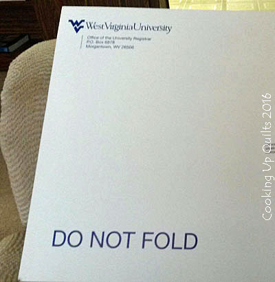 Diploma from WVU