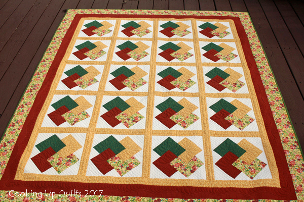 Card Trick Quilt Finish