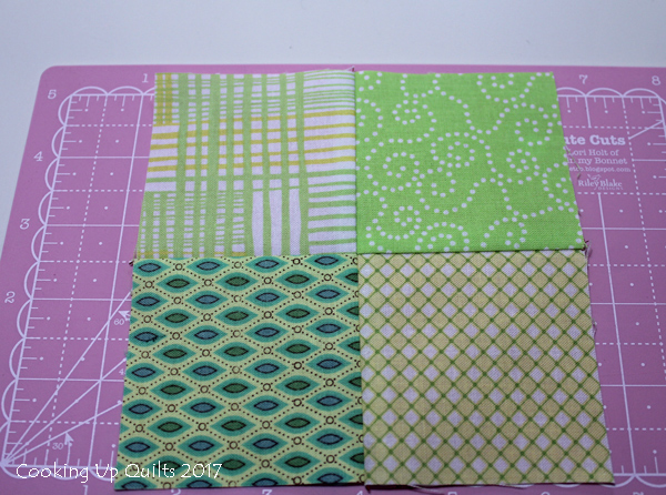 Four Patch with spinning seams