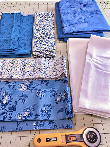Fabric prep card trick pattern