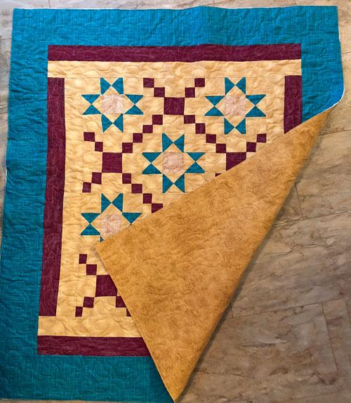 Pantograph Design on Quilt