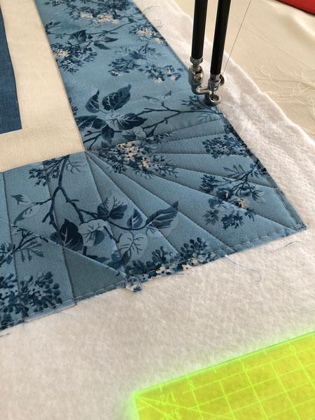 Corner quilting detail