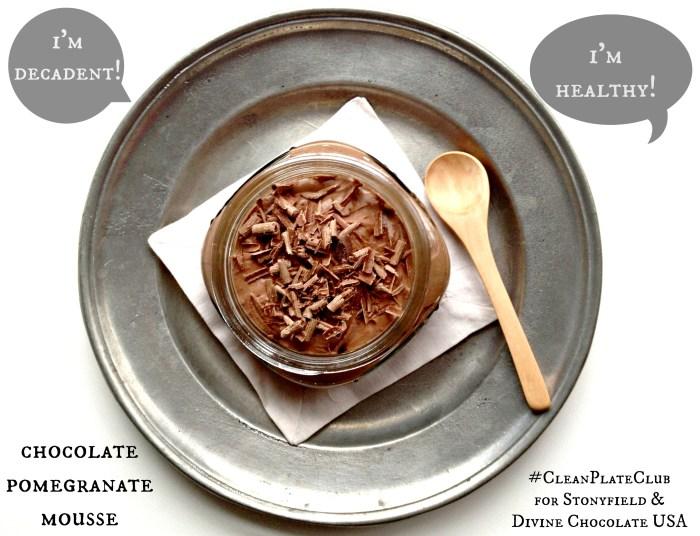 Chocolate Pomegranate Mousse