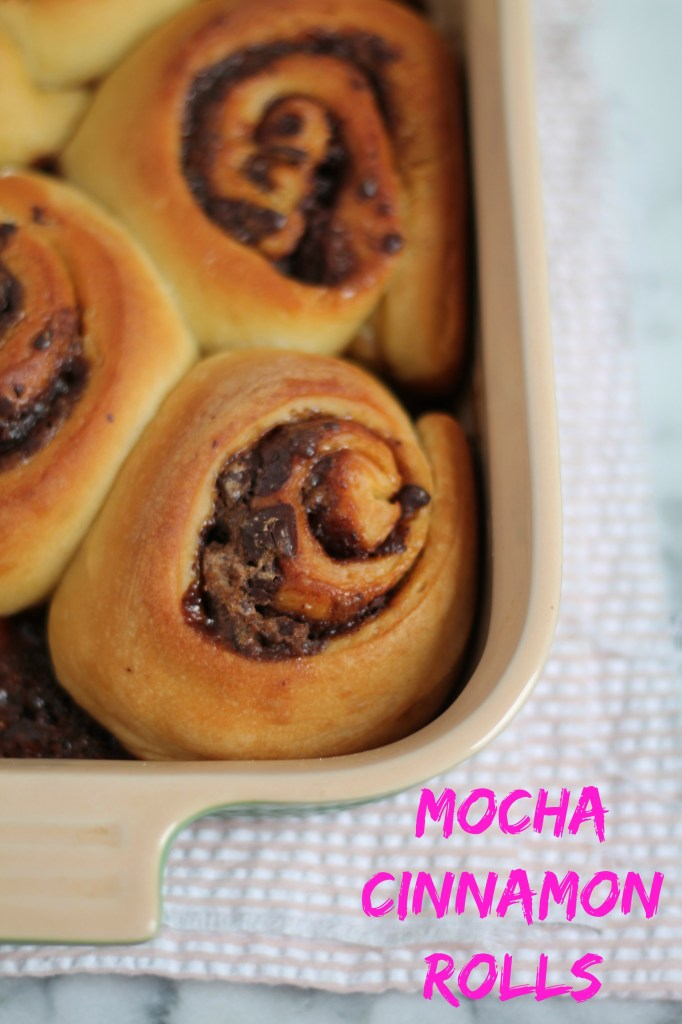 Mocha Cinnamon Rolls recipe