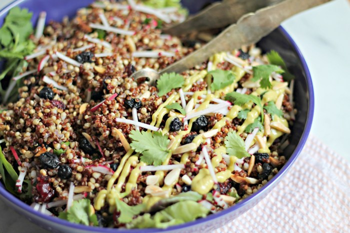 Spiced Grain Salad with Avocado Raspberry-Chipotle Dressing
