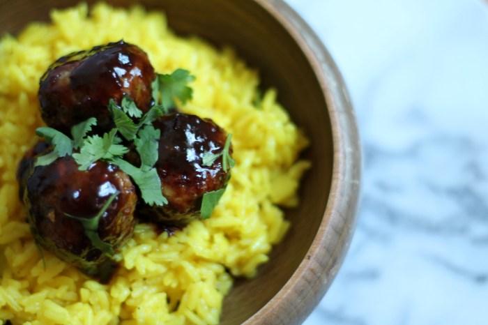 Cherry Chipotle Greek Lamb Meatballs recipe
