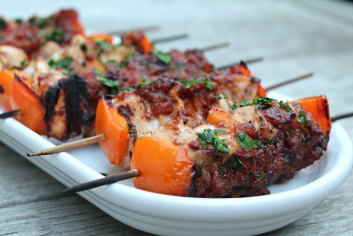 BBQ Whiskey Bacon Chicken Kebabs 03
