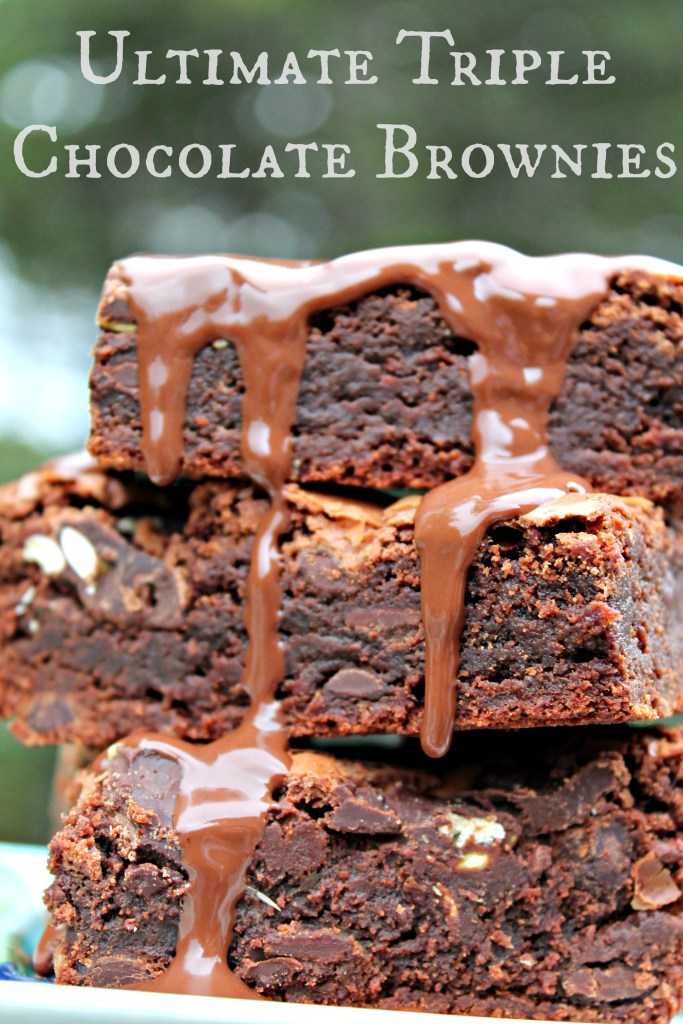 Triple Chocolate Brownie Stack