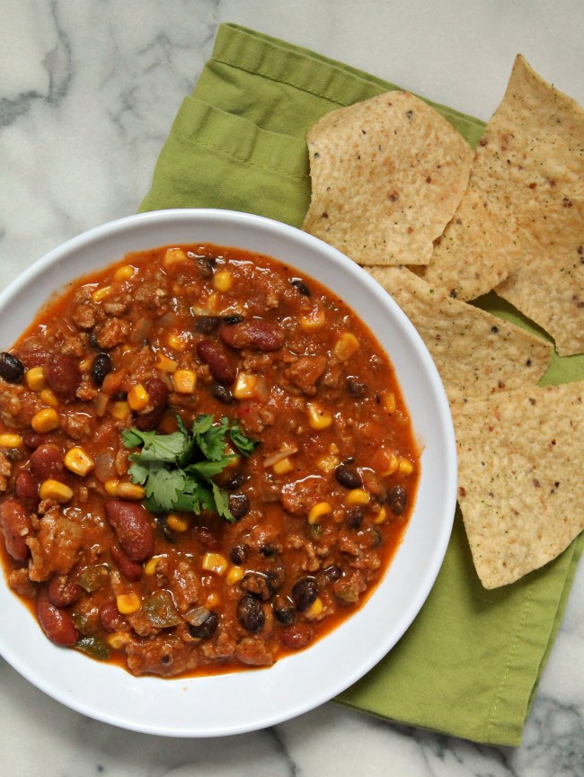 The Best Healthy Turkey Chili - Recipe on CookingWithBooks.net