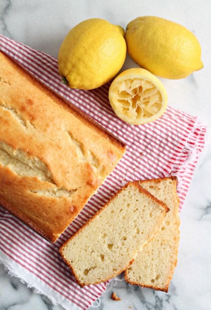 Lemon Yogurt Loaf Cake - Get the recipe on CookingWithBooks.net