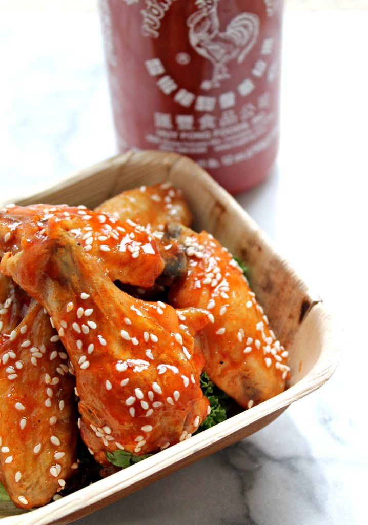 Spicy Sweet Sriracha Sesame Chicken Wings - Recipe on CookingWithBooks ...