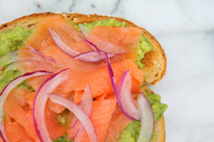 Avocado Toast Four Ways - Smoked salmon avocado toast - recipe on CookingWithBooks.net