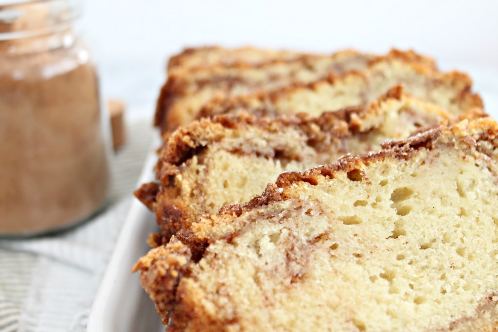 Bake up this Cinnamon Sugar Loaf Cake for a quick treat, breakfast, or just because!
