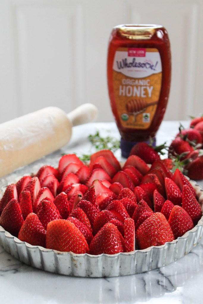 Strawberry & Thyme Honey Custard Tart-10