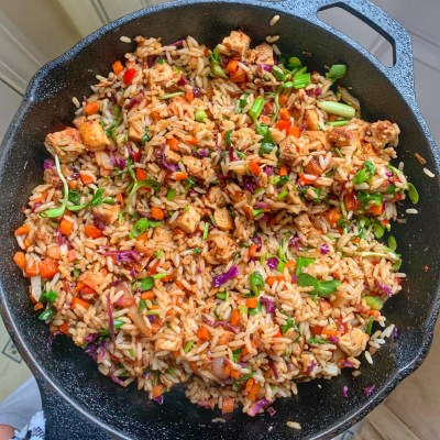 Spicy Chicken Vegetable Fried Rice