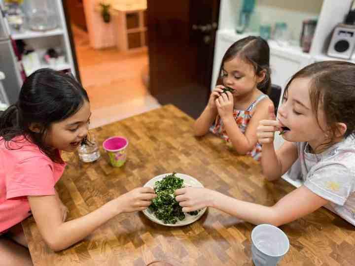 My children fighting over kale!