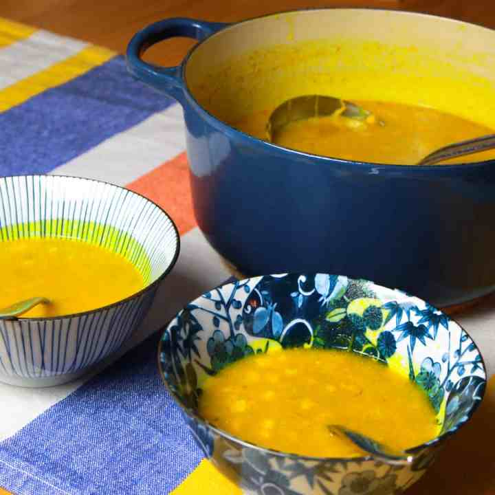 Spiced Pumpkin and Sweetcorn Soup