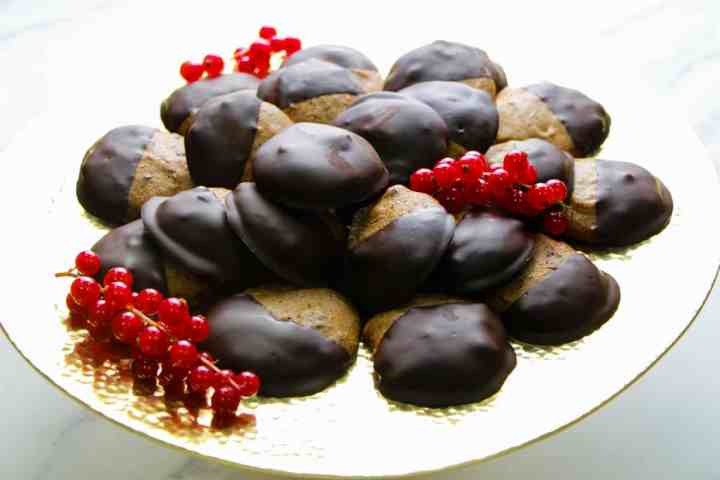 Smothered in dark chocolate - vegan and gluten free cookies