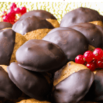 Pinterest graphic showing Decadent Dark Chocolate and Almond Cookies that are vegan and gluten-free.