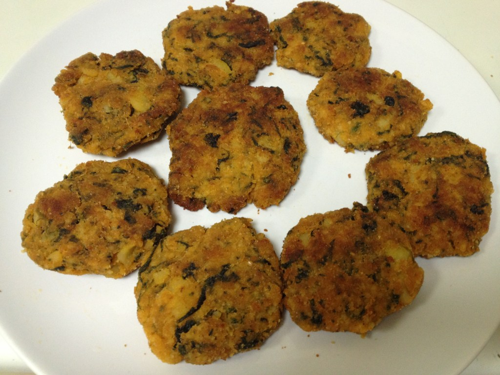 Millet Cutlets with Spinach