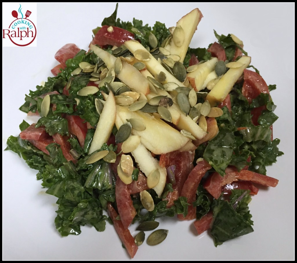 Kale Cabbage Salad with Apples