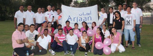 pink walkathon group photo