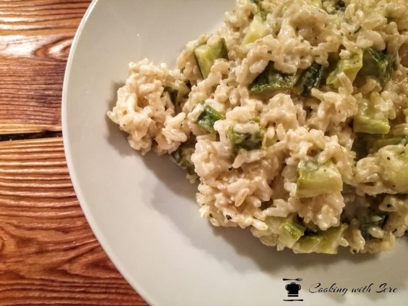 riso integrale con zucchine e philadelphia