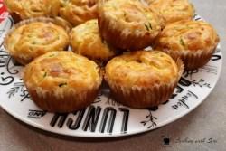 muffin salati con zucchine e prosciutto cotto