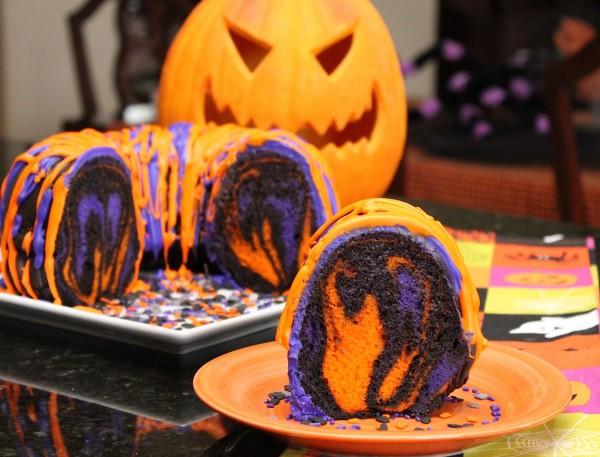 Post image for Amazing Halloween Rainbow Party Bundt Cake Recipe