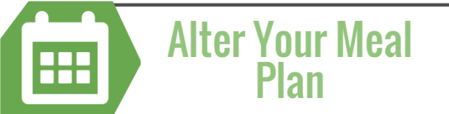 Alter Your Meal Plan
