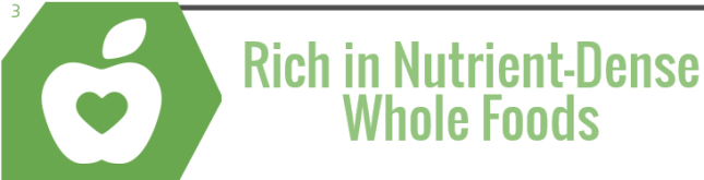 3) Rich in Nutrient-Dense Whole Foods