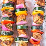 Chili Rubbed Chicken and Pepper Skewers