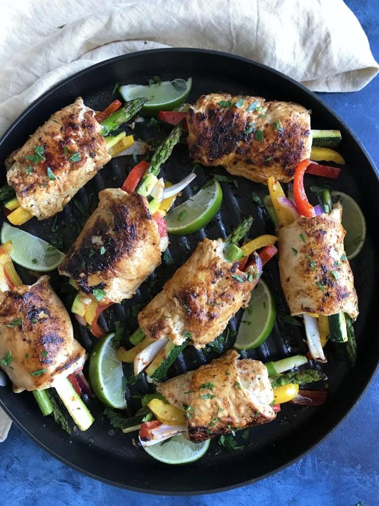 Chicken Veggie Rollups