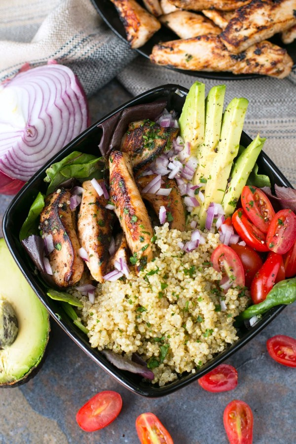 Grilled Chicken Lime Bowl