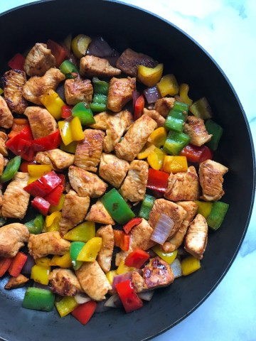 Skillet Chicken Fajitas Meal Prep