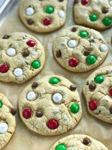 Santa's M&M Cookies