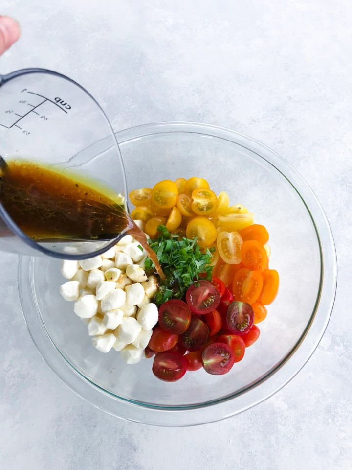 Balsamic Tomato Mozarella Salad