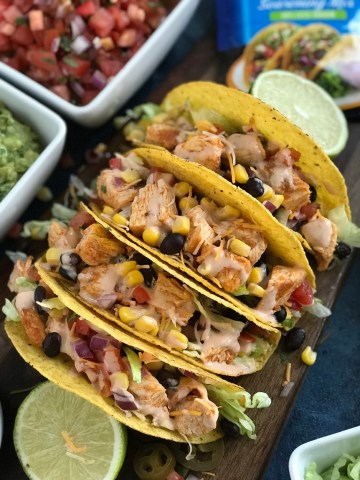 Southwest Chicken Tacos made with delicious spices and sauce