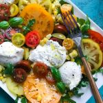 Delicious and Colorful Tomato and Burrata Spring Salad