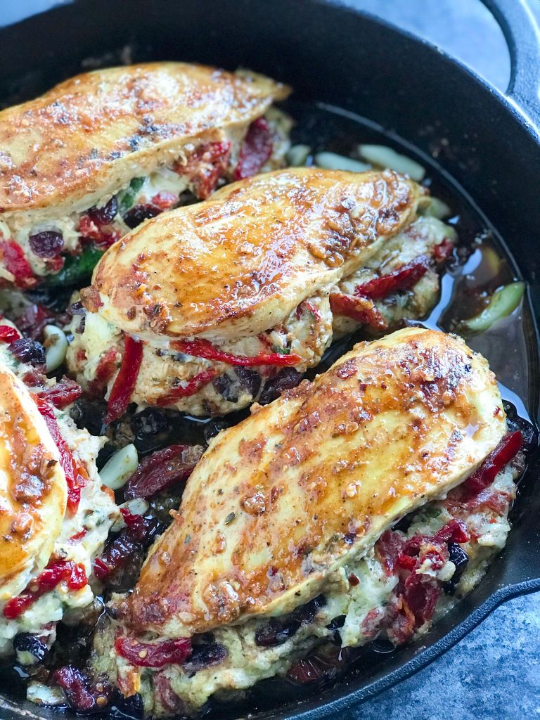 Cheesy Sundried Tomato Stuffed Chicken