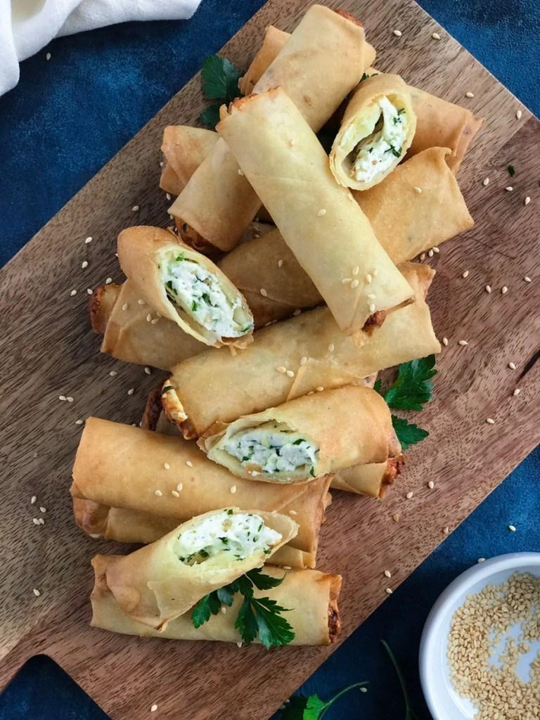 Lebanese Cheese Rolls (رقاقات بالجبنة, Rakakat Jibneh)