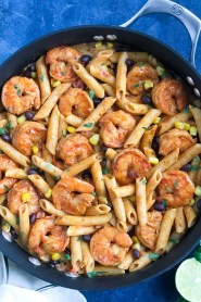 Creamy Southwest Shrimp Pasta