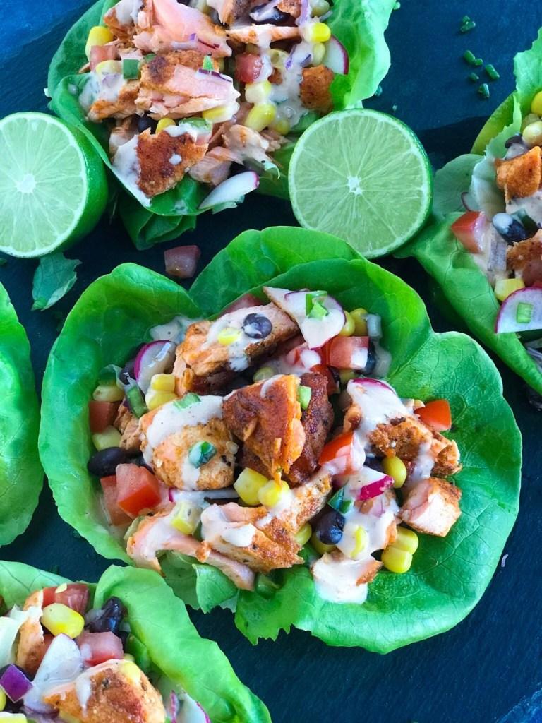 Salmon Lettuce Wrap