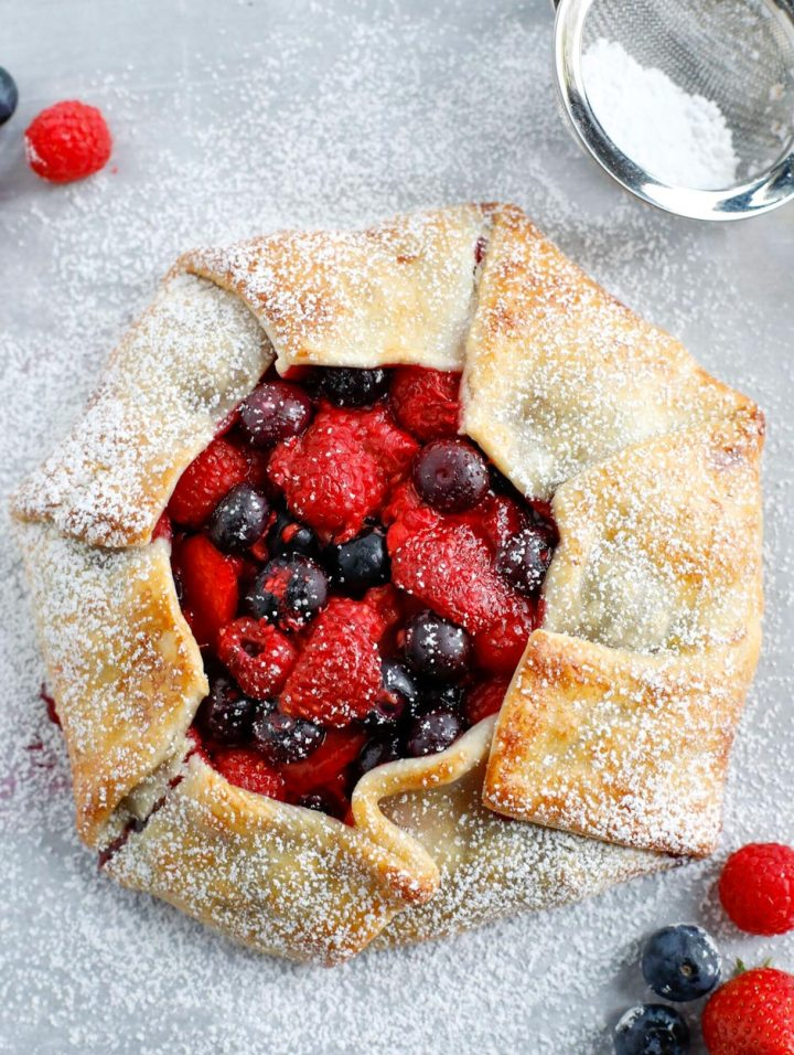 Baked Mixed Berry Galette
