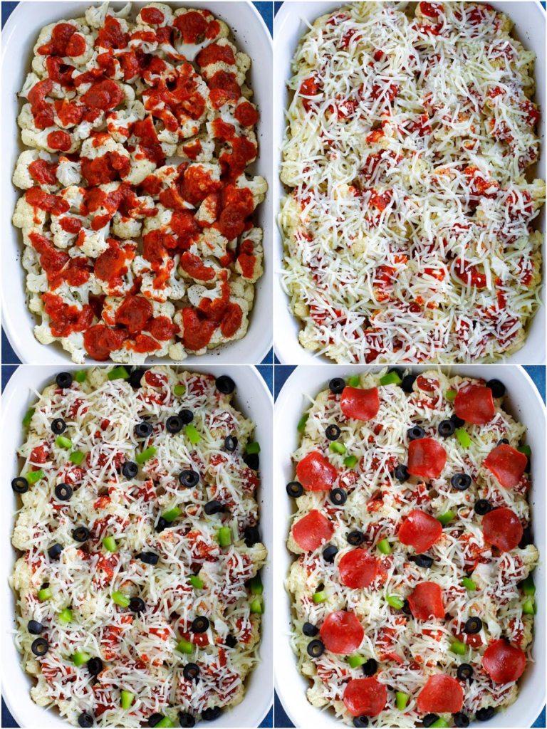 cauliflower pizza demonstration