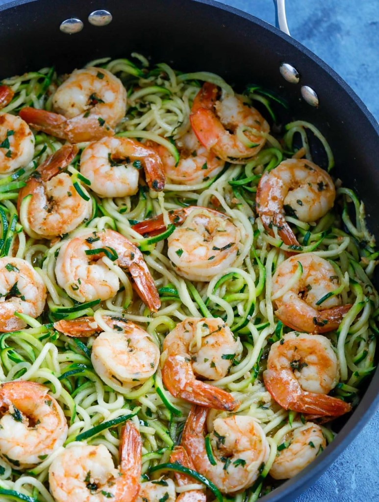 garlic shrimp zoodles